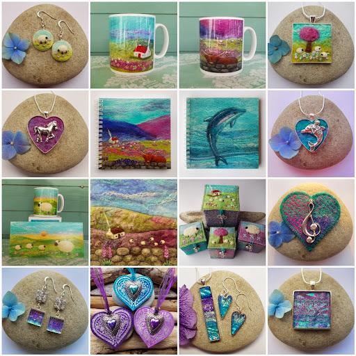 Scottish artist Aileen Clarke - crafts collection