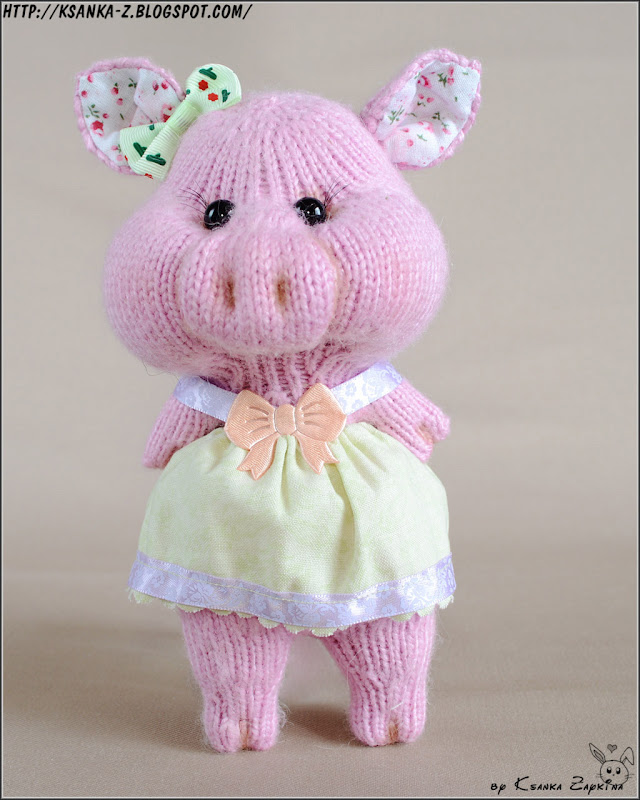 Амигуруми, вязаные игрушки, игрушки спицами, игрушки крючком, вязаные свинки, вязаные поросята, Amigurumi, crocheted toys, Knitting toys, Knitting pigs