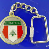 (لبنانيات: درع علم لبنان  (4 Lebanese Icons: Lebanese Flag Shield Size: 35 mm