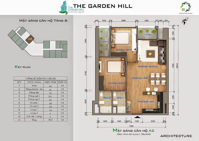 Căn A2 tầng 6 garden imperia - 99 trần bình