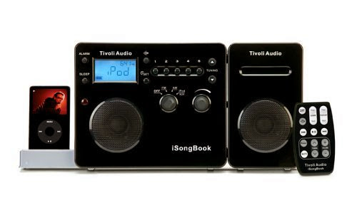 Tivoli Audio iSongBook Portable Music System for iPod (Black/Silver)