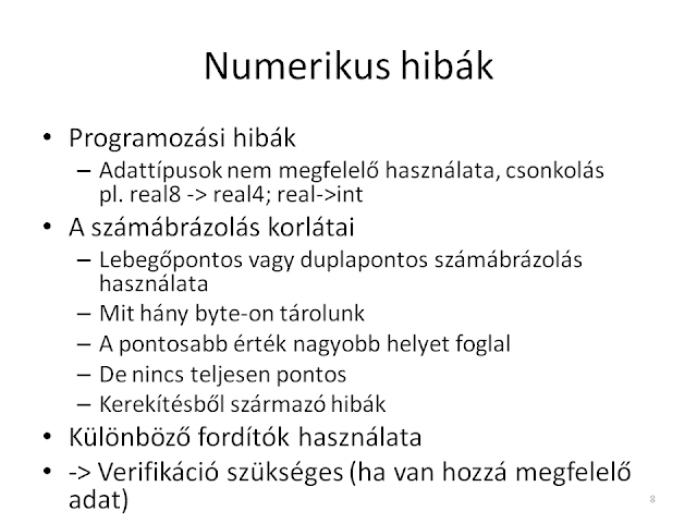 Numerikus hibák
