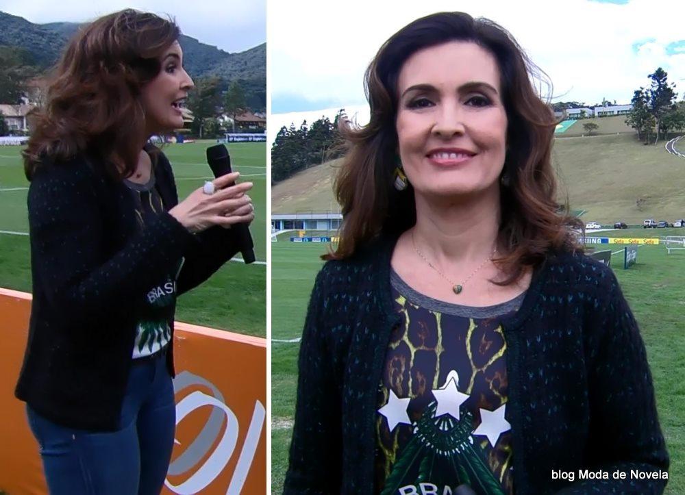 moda do programa Encontro - look da Fátima Bernardes dia 26 de maio