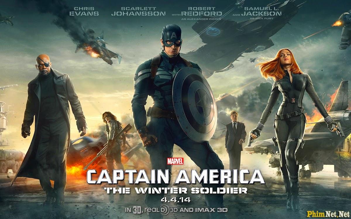 Xem Phim Chiến Binh Mùa Đông - Captain America: The Winter Soldier - Wallpaper Full HD - Hình nền lớn