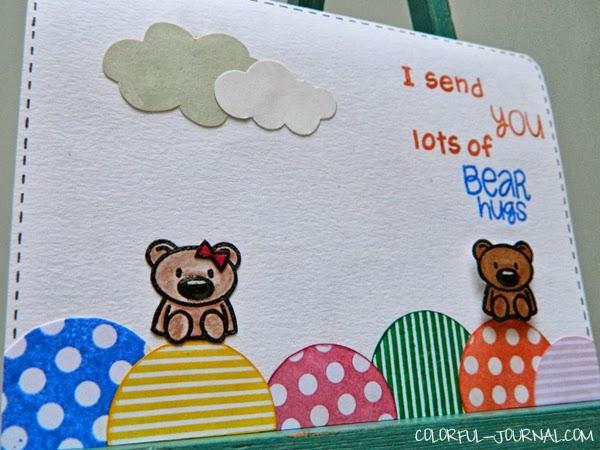 simon says stamp challenge bear card circle friends stamp set