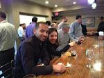 George & Sharon enjoying open bar