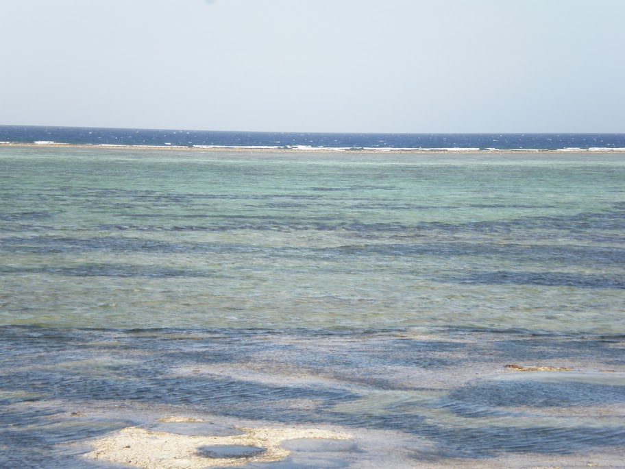 Contrast of blues - The barrier reef at Matemwe beach, Zanzibar