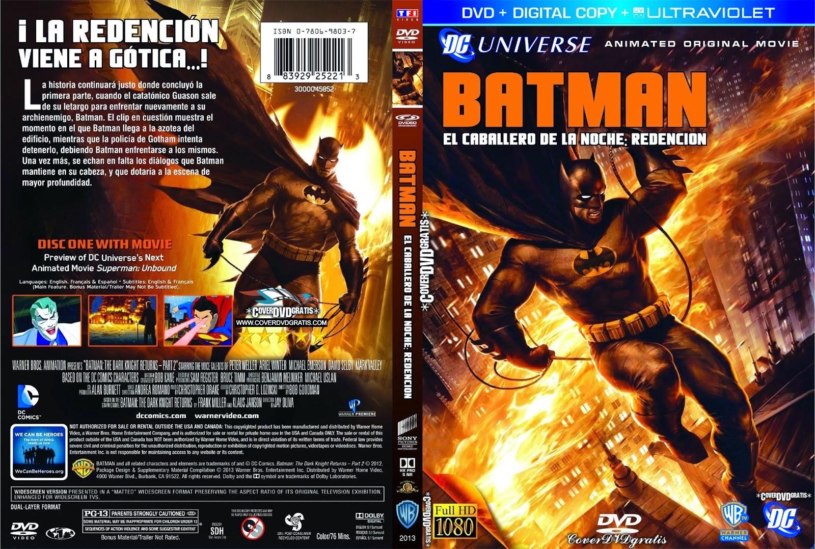 batman the dark knight returns part 2 2013 dvd cover