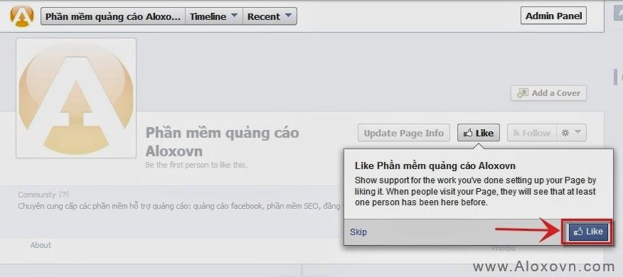 Hoàn thành quá trình tạo fanpage facebook