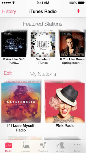 iTunes Radio in iOS 7