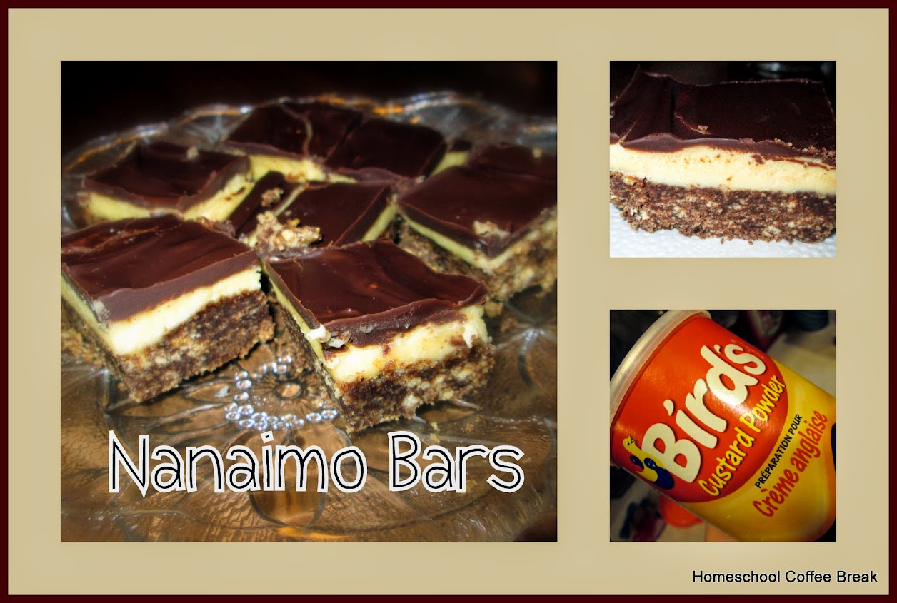Nanaimo Bars recipe, featured on Canada Day 2016 on Homeschool Coffee Break @ kympossibleblog.blogspot.com