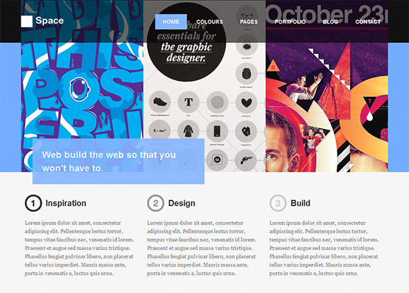 Space Creative WordPress Theme for Designers