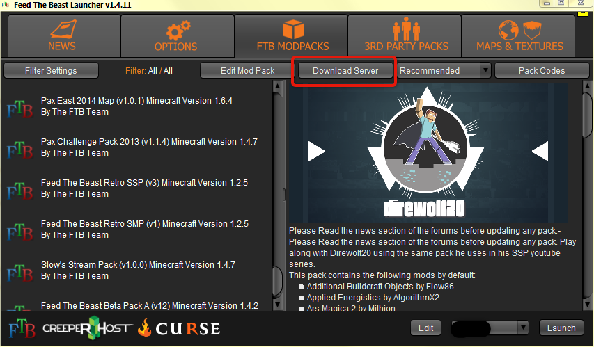Installation Feed The Beast Knowledgebase GGServers Ltd - Curse minecraft server erstellen