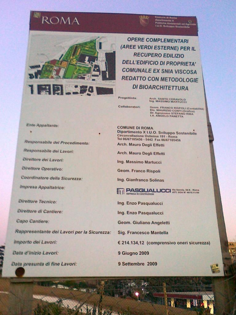 Comitato parco delle energie ex snia marzo 2011 for Casa del cantiere