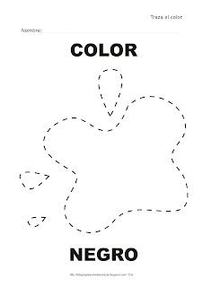 Dibujo para delinear y trazar el color negro