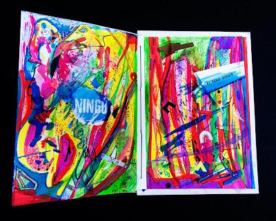 Pàgines centrals intervenció artística Sofia Gomez, Tots Fem Bages