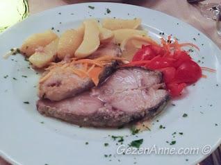 limonlu pisi balığı, Michelangelo restoran Capri