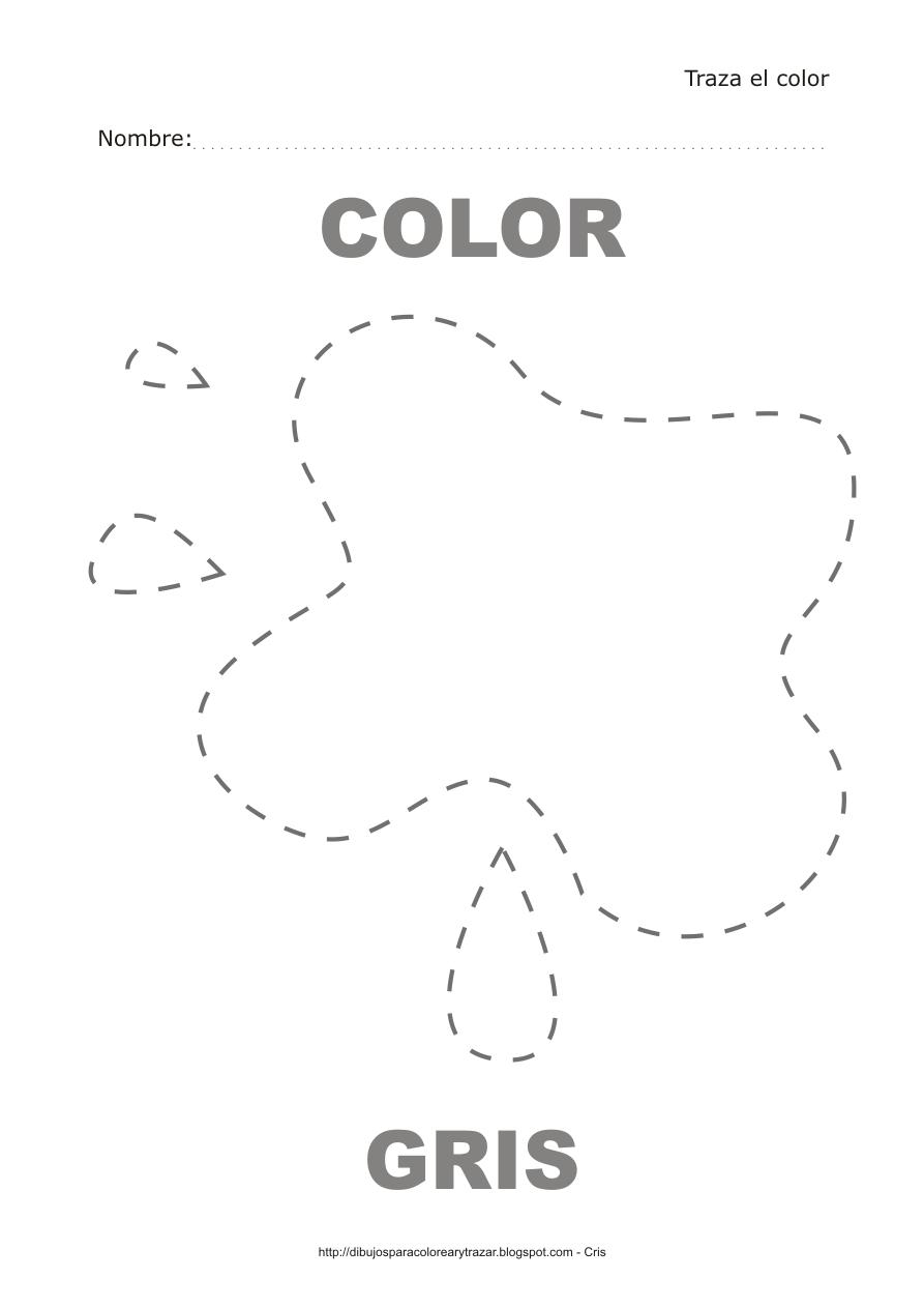 Dibujos para colorear y trazar - El color gris ...