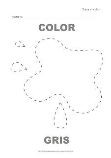Dibujo para delinear y trazar el color gris