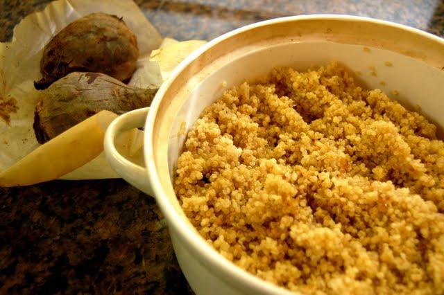 quinoa and beets