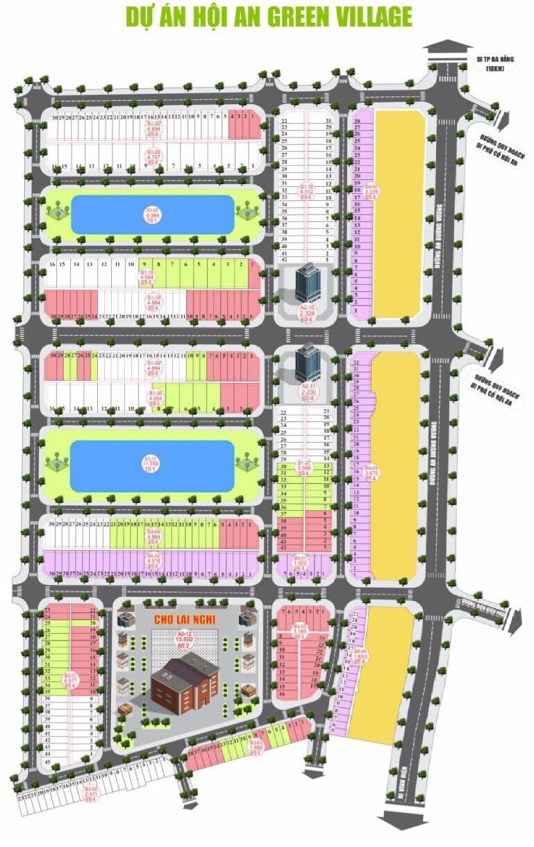 Sơ đồ dự án Chợ Lai Nghi - Cầu Hưng