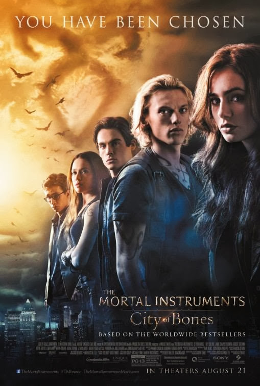 Poster Of English Movie The Mortal Instruments: City of Bones (2013) Free Download Full New Hollywood Movie Watch Online At Alldownloads4u.Com