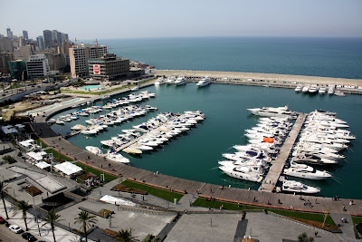 View from the roof of the Four Seasons Hotel in Beirut Lebanon