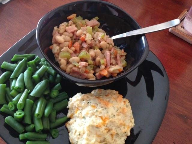One pot white beans & ham recipe