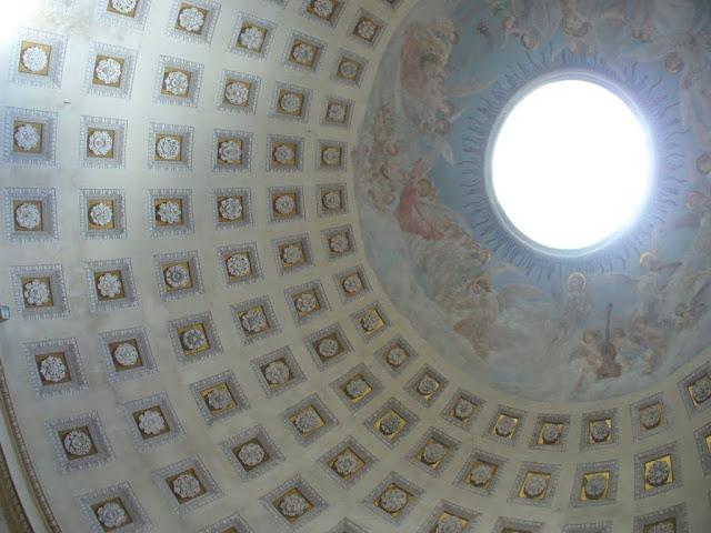 La cupola della rotonda, ispirata al Pantheon