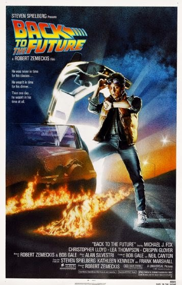Poster Of Back to the Future (1985) Full Movie Hindi Dubbed Free Download Watch Online At Alldownloads4u.Com