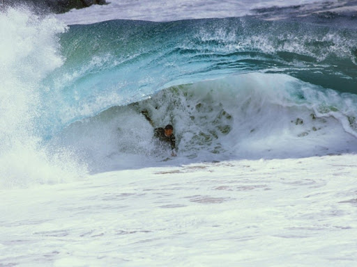 Matt Larson Bodysurfing under a Razor Rip, Wedge, Newport Beach, California.jpg