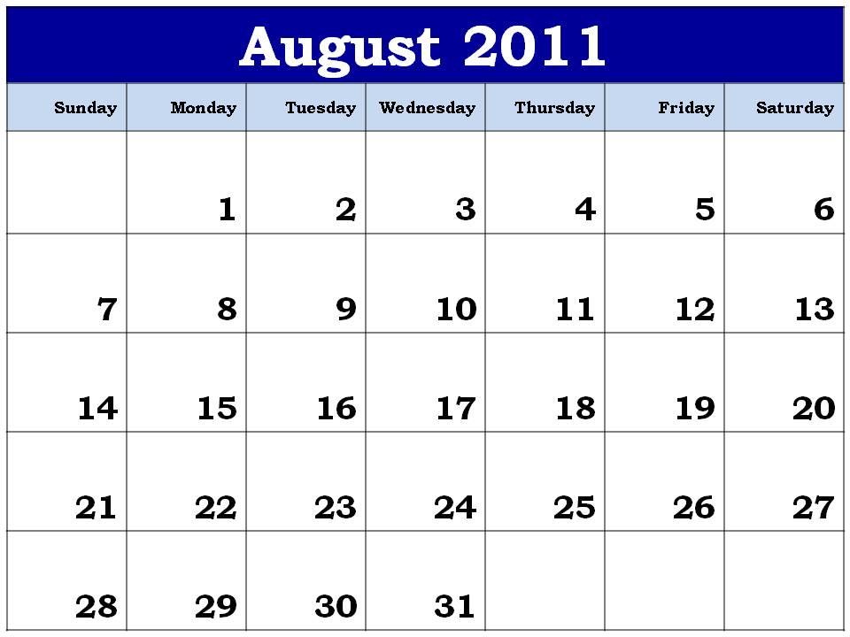 blank calendar 2011 august. lank+calendar+2011+august