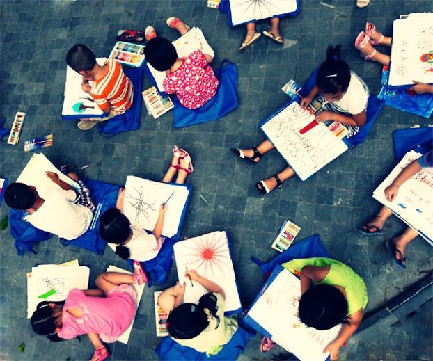 Vietnam outdoor class for children