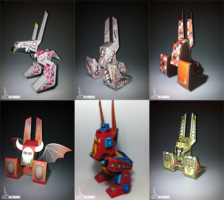 MechaBunny Paper Toy Mecha 6.4
