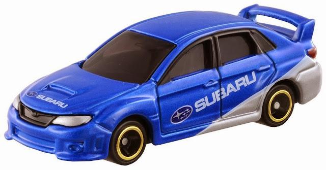 Tomica 7 Subaru Impreza WRX STI R4 màu xanh dương rất thể thao và phong cách