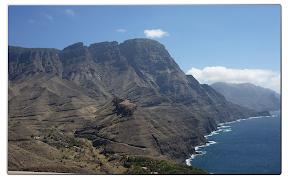 Ausblick Richtung Süden auf die Westküste Gran Canarias.
