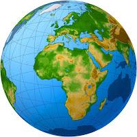 globo terrestre, africa