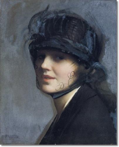 William Mcgregor Paxton - Portrait of Charlotte Morgan Mcfadden
