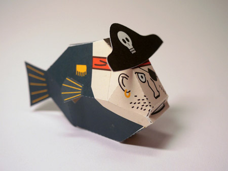 Pirate Fish Paper Toy