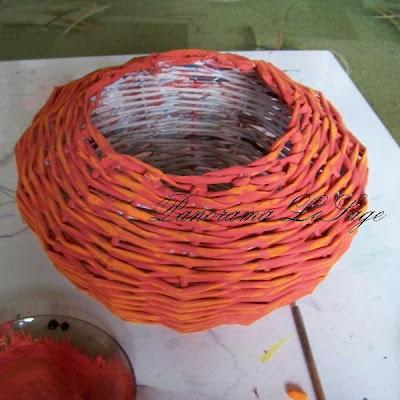 halloween dynia straszna dynia z papierowej ekologicznej wikliny zabawka dla dziecka koszyczek na słodycze panorama lesage plecenia papierowe wiklina koszykarstwo koszyk