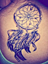 dreamcatcher tattoos on back 10