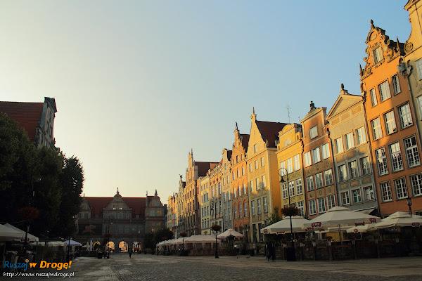 Gdańsk - Ulica Długa i  Zielona Brama o świcie