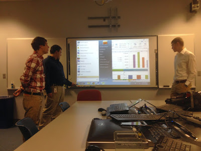 King's College students presenting our new dashboard