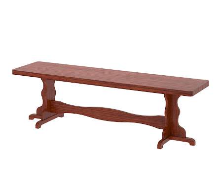 Colonial Bench in Stickley Hickory
