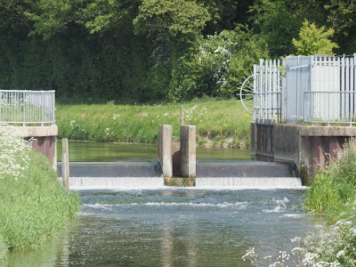 Weir at Marham Fen on River Nar