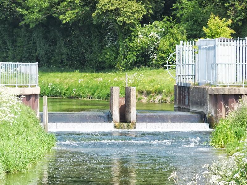 Weir at Marham Fen on River Nar