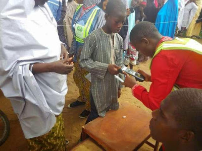 Photo: underage voter spotted in Taraba  ..