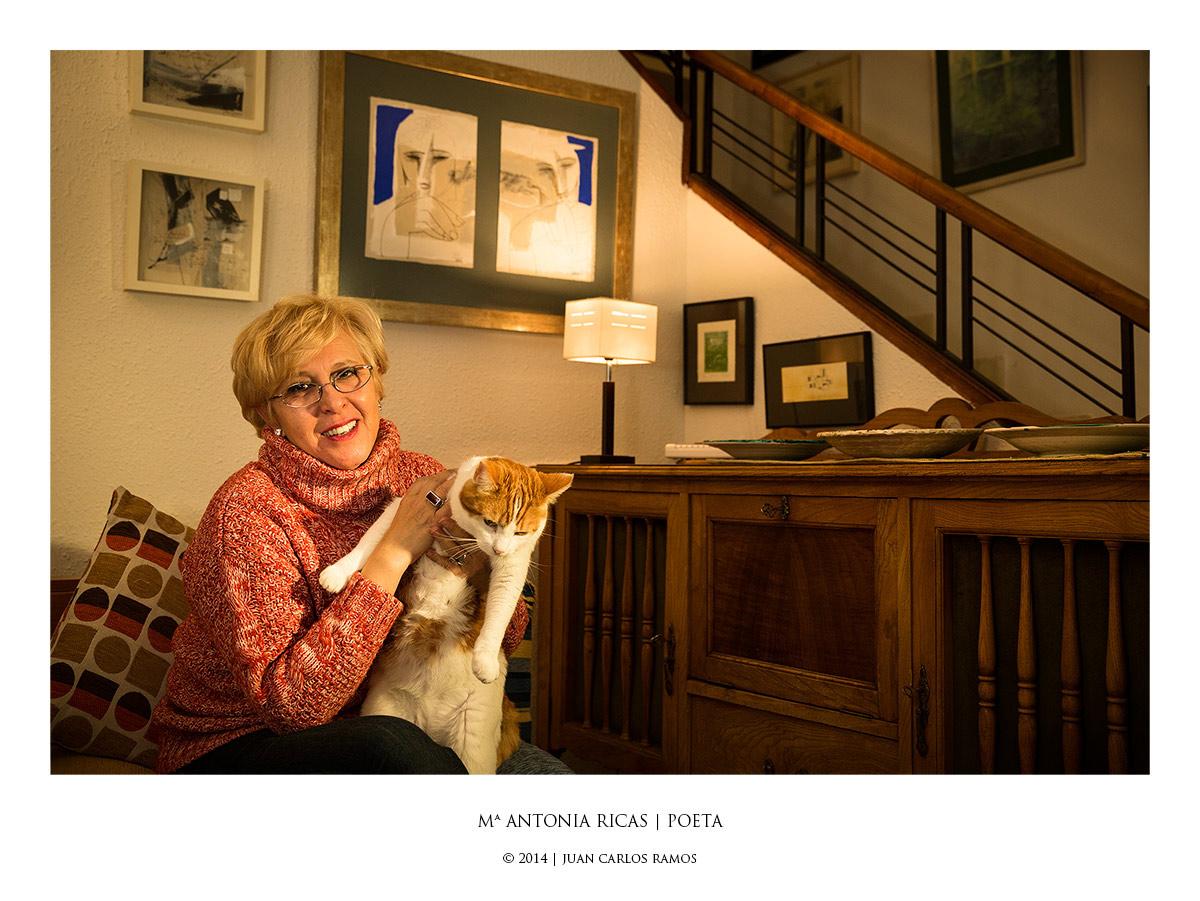 María Antonia Ricas | Poeta por Juan Carlos Ramos fotografo retrato toledo