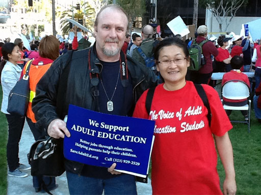 Yoon Jung Lee and Robert D. Skeels Fighting to save LAUSD Adult Ed