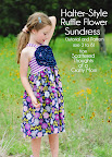 Ruffle Flower Halter Sundress